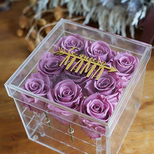 Regalos para invitados Caja flores preservadas Momento 280